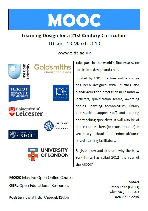 Learning Design For A 21st Century Curriculum Olds Mooc Week 1