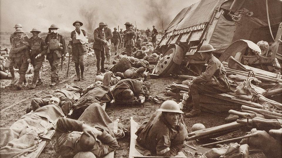 Battle of Menin Road by Frank Hurley from the State Library of New South Wales