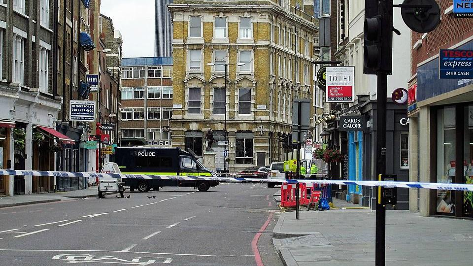 Police cordon at Borough Market. © David Arnold