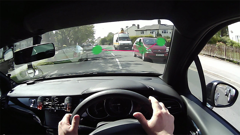 Driver using eye-tracking technology