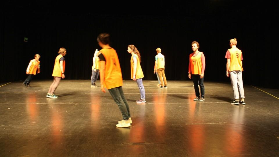 Dancers perform during the experiment