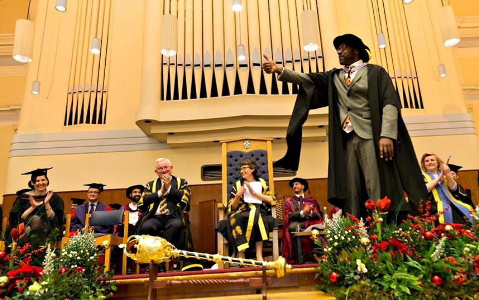 Lenny Henry receives his Honorary Fellowship