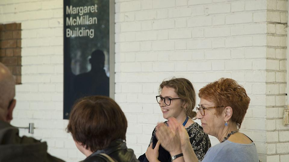 Celebrating the renaming of the building after Margaret McMillan