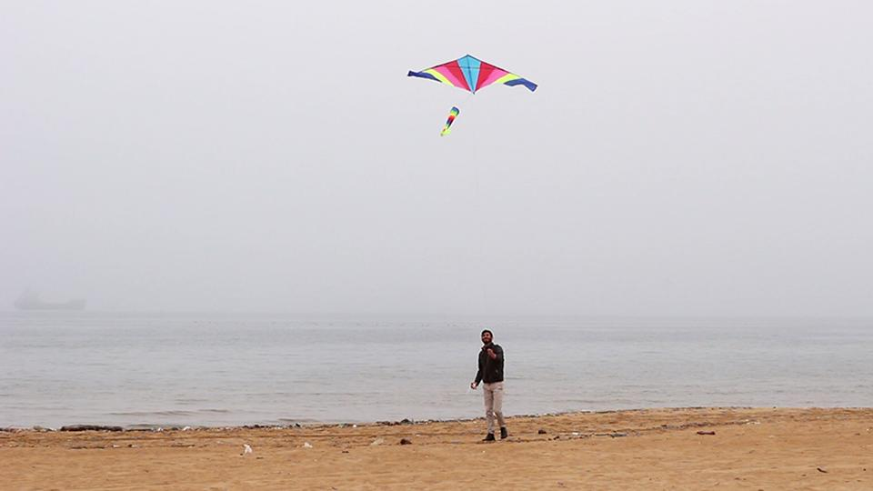 Yazda researcher during kite survey training