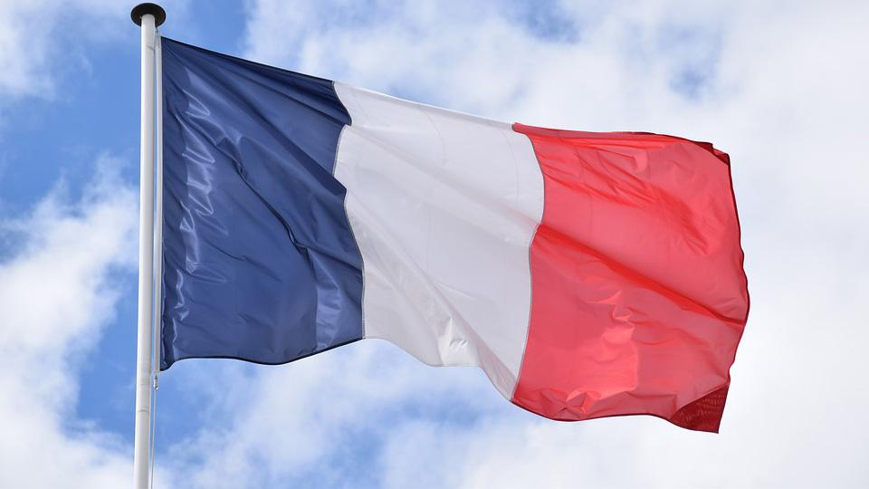 A photograph of the French national flag