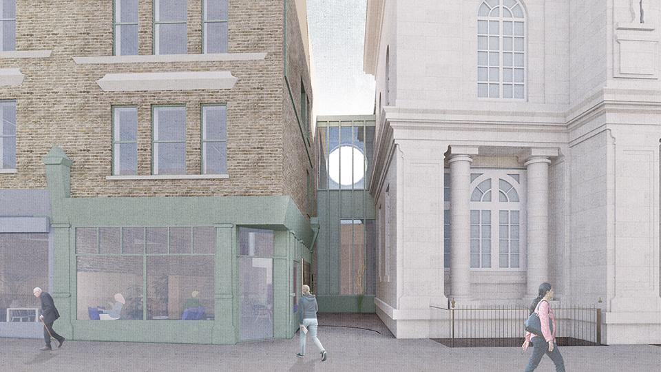 The Hub building will be linked to Deptford Town Hall