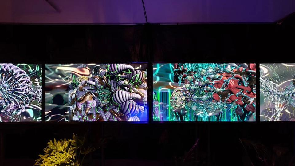 Mutator VR, on which the MVR CSynth Virus technology is based, exhibited at Shanghai Modern Art Museum, 2019