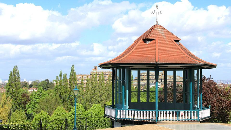 The bandstand in the Horniman gardens