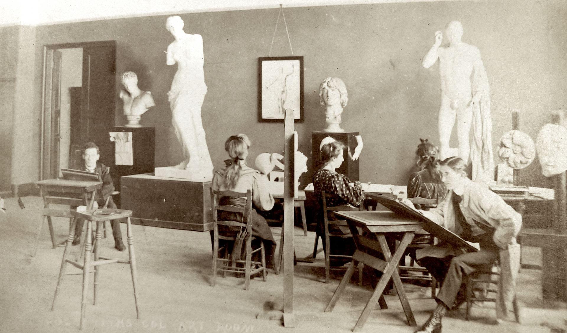 Goldsmiths Art students in 1908