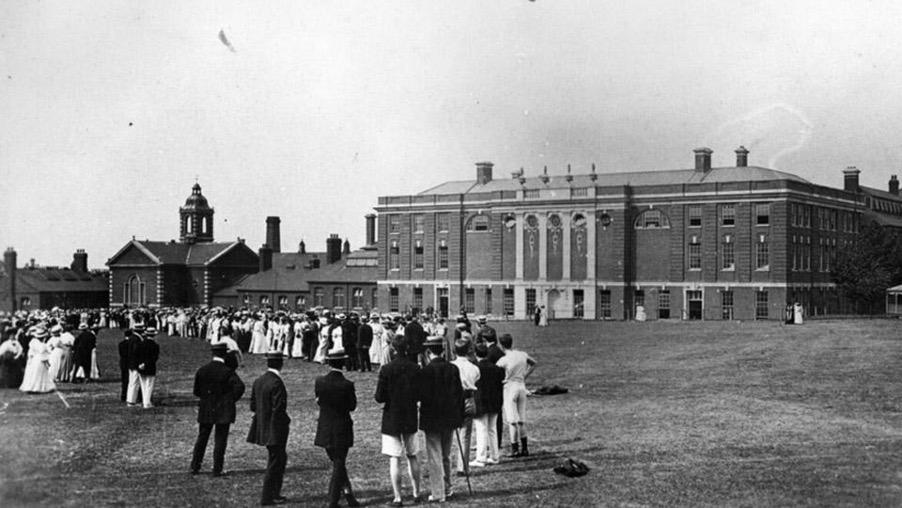 College Green and the Grade II listed Richard Hoggart Building, c.1908.