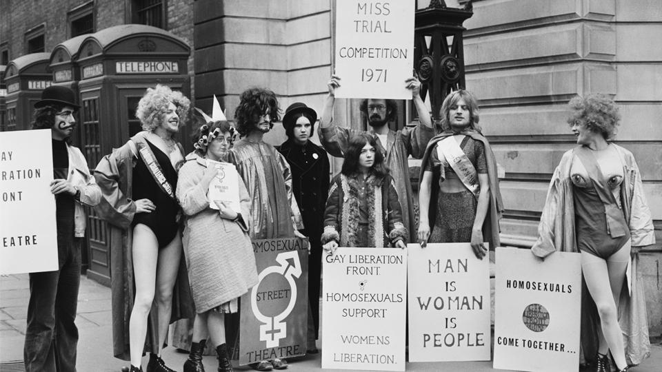A demonstration by the Gay Liberation Front in Bow Street, London, 4 February 1971 © McCarthy/Daily Express/Getty Images