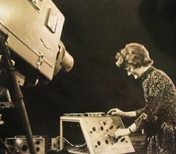 Daphne Oram playing electronic music.